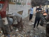 قارئ يشارك بصور لمبادرة شباب بالبحيرة لتنظيف وتجميل مدارس القرية