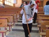 """صور.. جامعة سوهاج تدشن المبادرة الطلابية """"النظافة ثقافة"""" لتجميل مبانى الكليات"""