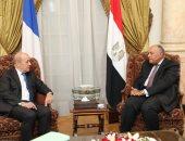 سامح شكرى يبحث مع وزير الخارجية الفرنسى آخر تطورات قضية سد النهضة