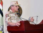 وزير الدفاع ينقل تحيات الرئيس لقوات الصاعقة: مصر الكتلة الصلبة التى تحفظ أمن المنطقة