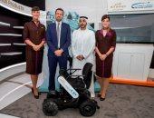 إطلاق المرحلة التجريبية للكرسى المتحرك فى مطار أبو ظبى لمساعدة المسافرين