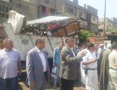 صور.. حملة مكبرة لرفع الإشغالات فى شوارع حى شمال الجيزة