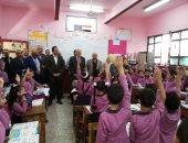 محافظ الجيزة ومدير التعليم يتفقدان مدارس المحافظة استعدادا لبدء الدراسة