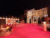 صور.. التجهيزات النهائية لحفل مهرجان الجونة قبل انطلاقه بساعات
