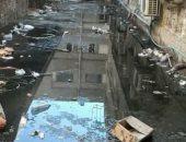شكوى من انتشار مياه الصرف الصحى بجوار مستشفي بولاق الدكرور