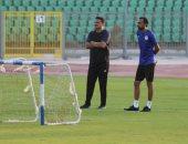 صور .. إيهاب جلال يقود تدريب المصرى بعد الإعتذار عن تدريب المنتخب