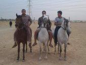 صور.. انطلاق مهرجان الخيول بقصر الباسل فى الفيوم