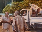 صور.. حملات مسائية لرفع الإشغالات شرق الإسكندرية