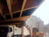 رفع 75 طن مخلفات من الأنفاق أسفل الدائرى بحى العمرانية فى الجيزة