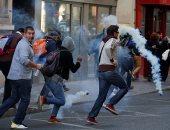 صور.. الشرطة الفرنسية تطلق الغاز على محتجى السترات الصفراء وتعتقل العشرات