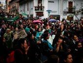 صور.. مظاهرات ضد تشريع الإجهاض فى الإكوادور