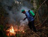 استمرار عمليات إخماد حرائق الغابات فى بوليفيا
