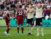 معاناة مانشستر يونايتد تتجدد بالخسارة 2/0 ضد وست هام