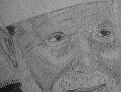 كيرلس يشارك بموهبته فى الرسم ويؤكد: كان حلمى أدخل فنون جميلة والمجموع حرمنى