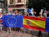 """مظاهرات بأسبانيا احتجاجا على """"بريكست"""""""