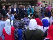 """صور ..رئيس جامعة المنيا يلتقى طلاب """"الحاسبات"""" و""""النوعية"""" و""""السياحة"""" الجُدد"""