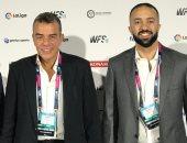 اجتماعات مكثفة لوفد الأهلى بمؤتمر صناعة كرة القدم فى إسبانيا