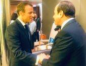 السيسي يبحث مع الرئيس الفرنسى تعزيز العلاقات الثنائية بين البلدين.. صور