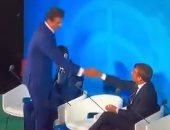 """""""رجل على رجل"""".. استقبال مهين من ماكرون لـ""""تميم"""" فى الأمم المتحدة (فيديو)"""