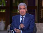 """فيديو.. الإبراشى يعرض تأشيرة حسن نافعة إلى قطر تثبت: """"فى مهمة رسمية"""""""
