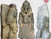 فيديو وصور.. جمارك الكويت تكشف القطع الأثرية الفرعونية المضبوطة قبل تهريبها