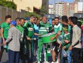 صور.. جمهور الاتحاد يتجه إلى برج العرب لدعم زعيم الثغر أمام العربى