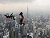 """لاعبون يقفزون من برج كوالا لامبور خلال الوثب الدولى """"ماليزيا 2019"""""""