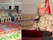 الفريق محمد فريد يشهد إجراءات تفتيش الحرب لإحدى وحدات المنطقة الجنوبية