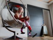 قصة طفلة مبتورة الساقين تقدم عرض أزياء ..أعرف التفاصل من أسبوع الموض..صور