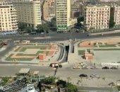 ناشط سعودى يرصد الهدوء فى شوارع القاهرة من شرفة فندقه بوسط البلد