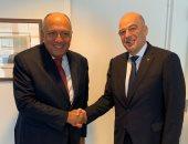 شكرى يبحث مع وزير خارجية اليونان تحقيق تطلعات شعبى البلدين فى الازدهار والتنمية