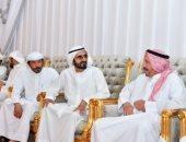 محمد بن راشد يقدم واجب العزاء في وفاة النعيمة الكتبي