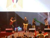 """فيديو وصور.. محمد رمضان من مسرح النصب التذكارى: """"يا قطر يا تركيا رجالة مصر أهم"""""""