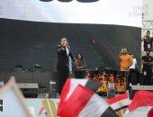 محمود الليثى ومحمد نور يشعلان حماس المؤيدين للرئيس السيسى بالمنصة