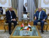 العصار يستقبل سفير دولة بيلاروسيا بعد انتهاء فترة عمله فى مصر