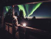 أضواء الشفق القطبى المبهرة تضىء سماء فنلندا