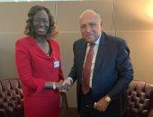 شكرى يؤكد لوزيرة خارجية جنوب السودان تمسك مصر بالتوصل لاتفاق عادل حول سد النهضة
