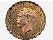 مزاد علنى لبيع قطعة نقدية لملك بريطانى تنازل عن العرش بسبب الحب