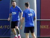 تعرف على حظوظ ميسي وألبا من مباراة برشلونة والإنتر بدورى الأبطال