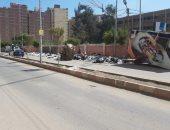 أهالى طنطا يشكون من تراكم القمامة أمام سور مدرسة الزراعة
