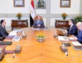 السيسي يطلع على الموقف التنفيذى للمتحف المصرى الكبير وتطوير القاهرة الخديوية