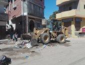 صور.. مدينة إسنا تقود حملات بالمدينة والقرى والطريق الصحراوى الغربى ورفع 50 طن مخلفات صلبة