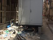 أهالى شارع بالى شدس بالإسكندرية يطالبون بنقل أكشاك الكهرباء