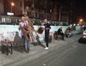 صور .. حملات مسائية لإزالة الإشغالات والتعديات بالإسكندرية
