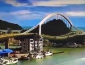 """فيديو وصور جديدة لانهيار جسر """"نانفانجاو"""" الشاهق فوق خليج شرق تايوان"""