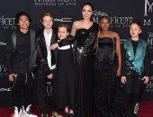 أنجلينا جولى تصطحب أبنائها في العرض الأول لفيلمها Maleficent