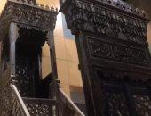 شاهد.. منبر مسجد أبو بكر مزهر بالمتحف القومى للحضارة