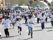 أهالى حدائق أكتوبر ينظمون ماراثون رياضى بالتزامن مع احتفالات نصر أكتوبر