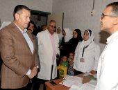 صور .. محافظ بنى سويف يزور مستشفى ناصر العام ويأمر بالقضاء على الزحام
