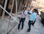 تساقط أجزاء من عقار شرق الإسكندرية دون إصابات